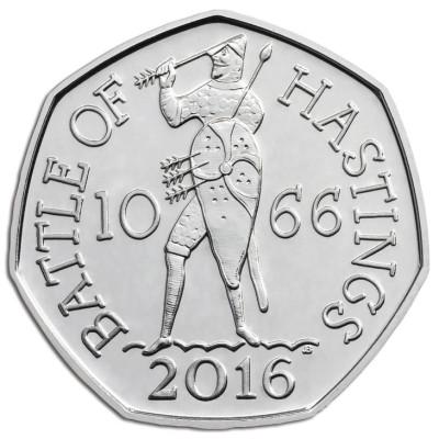 Монета 50 пенсов 2016 г. Великобритания. Battel of Hastings.