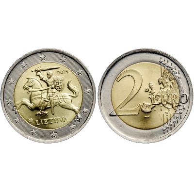 "Монета 2 евро 2015 год. Литва. ""Ходячка""."
