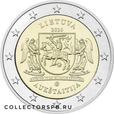 Монета 2 евро 2020 год. Литва. Аукштайтия.