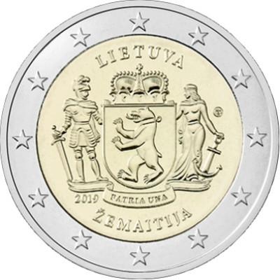 """Монета 2 евро 2019 год. Литва. Жемайтия (cерия """"Литовские этнографические регионы"""")."""