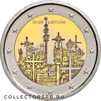 Монета 2 евро 2020 год. Литва. Гора Крестов.