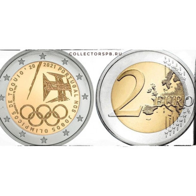 Монета 2 евро 2021 год. Португалия. Летние олимпийские игры.