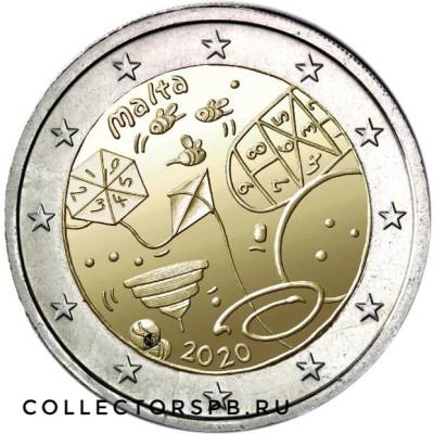 Монета 2 евро 2020 год. Мальта. Дети.