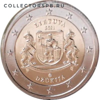 Монета 2 евро 2021 год. Литва. Дзукия.