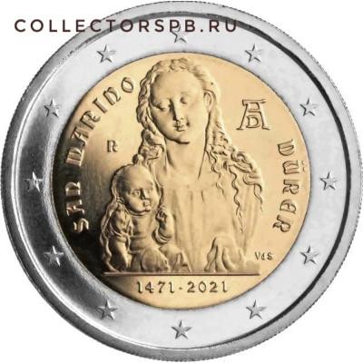 Монета 2 евро 2021 год. Сан-Марино. Дюрер.
