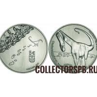 Монета 5 евро 2021 год. Португалия. Динозавры.