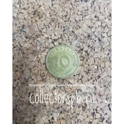 Монета 10 пфеннигов 1937 год. Германия.
