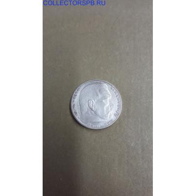 Монета 2 марки 1938 год. Германия.