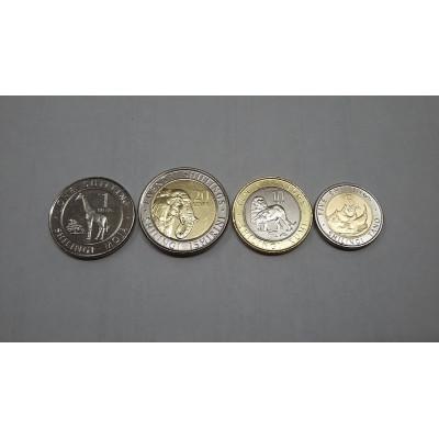 Набор из 4-х монет Кении 2018 год. Животные.