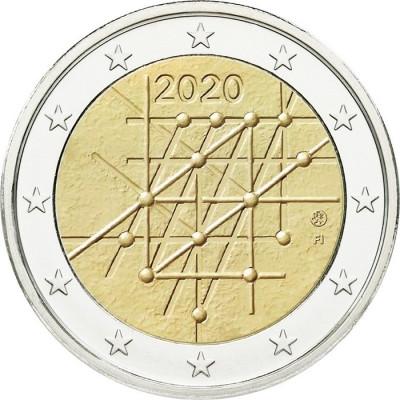 "Монета 2 евро 2020 год. Финляндия ""100-летие университета Турку""."