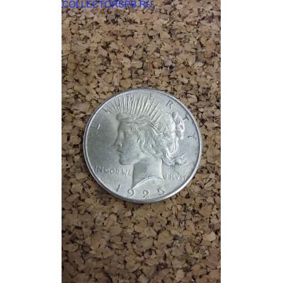 Монета 1 Доллар 1925 год. США. Pease.