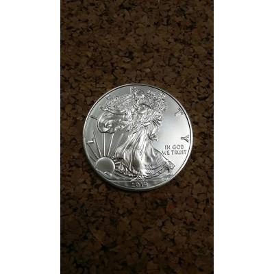 Монета 1 доллар 2019 год. США. Шагающая свобода.