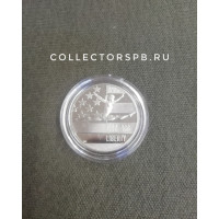 Монета 50 центов (пол доллара) 1992 год. США. Олимпиада. Гимнастика. В подарочной упаковке.