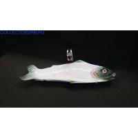 Селедочница в виде рыбы на металлической подставке. Фаянс.