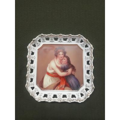 Блюдо фарфор, деколь, позолота.  AtriM collection Desing England