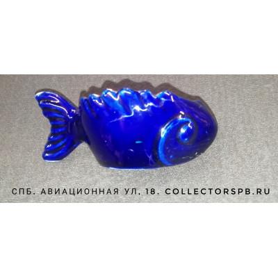 """Икорница """"Рыба"""" (рыбка). Фарфор Новгород. СССР."""