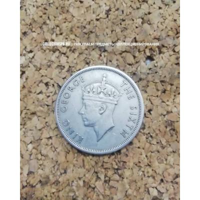 Монета 1/2 кроны 1951 год. Южная Родезия.
