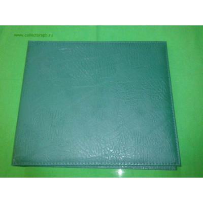 Альбом горизонтальный для значков на ткани, кожзам, 270х250 мм