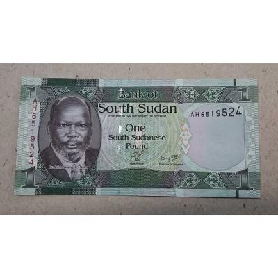 Банкнота 1 фунт Южный Судан.