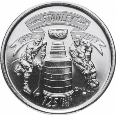 Монета 25 центов 2017 год. Канада. 125 лет Кубку Стенли.
