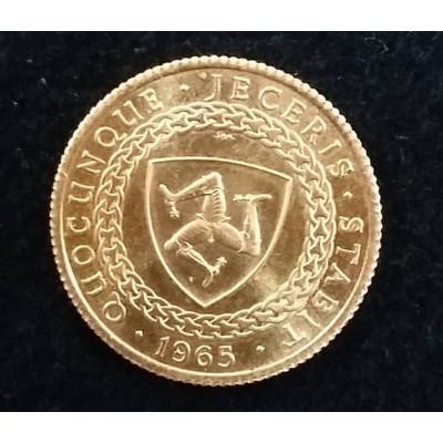 Монета. Остров Мэн. Соверен 1965. Золото.