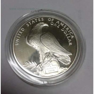 "Монета 1 доллар США ""Олимпиада в Лос-Анджелесе"" 1984 г."