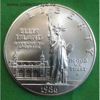 """Монета 1 доллар США """"100-летие Статуи Свободы"""" 1986 г."""
